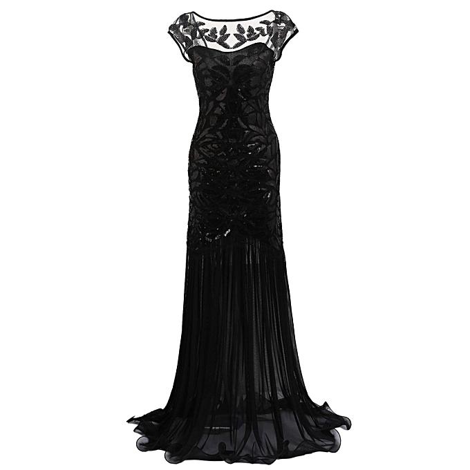 Sunshine femmes Vintage Style Sequin Embellished Evening Party Club Maxi Dress à prix pas cher