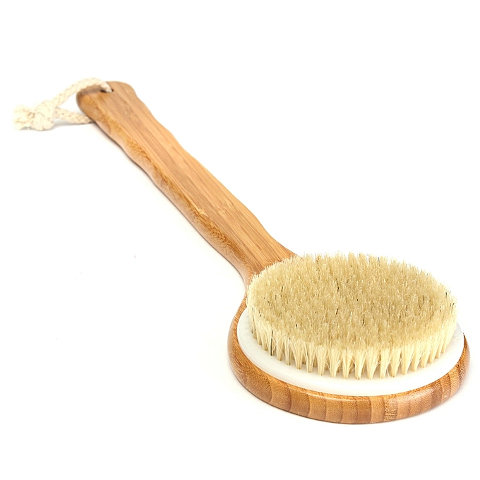 UNIVERSAL Bristle Long Handle Wooden Bath Shower Body Back Brush Spa Scrubber Exfoliating à prix pas cher
