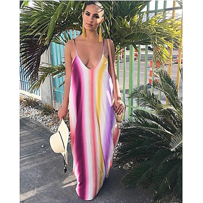 OEM nouveau été Robe grand Taille top strap plage jupe Robe-violet à prix pas cher