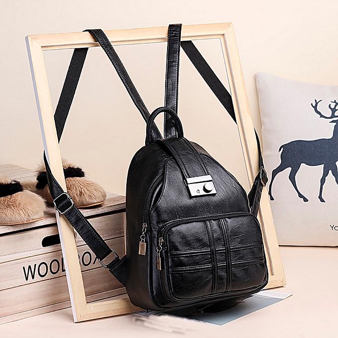 mode Xiuxingzi femmes sac à dos Simple Décontracté Soft cuir Anti-theft voyage petit sac à dos à prix pas cher