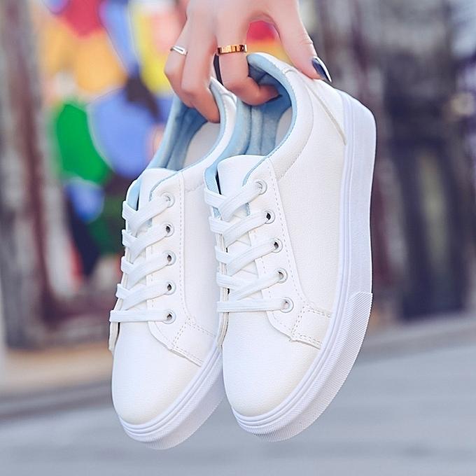 Autre Stylish Korea Thick pas Sole Schoolgirls' Sports White Sneakers à prix pas Thick cher  | Jumia Maroc f9f28c