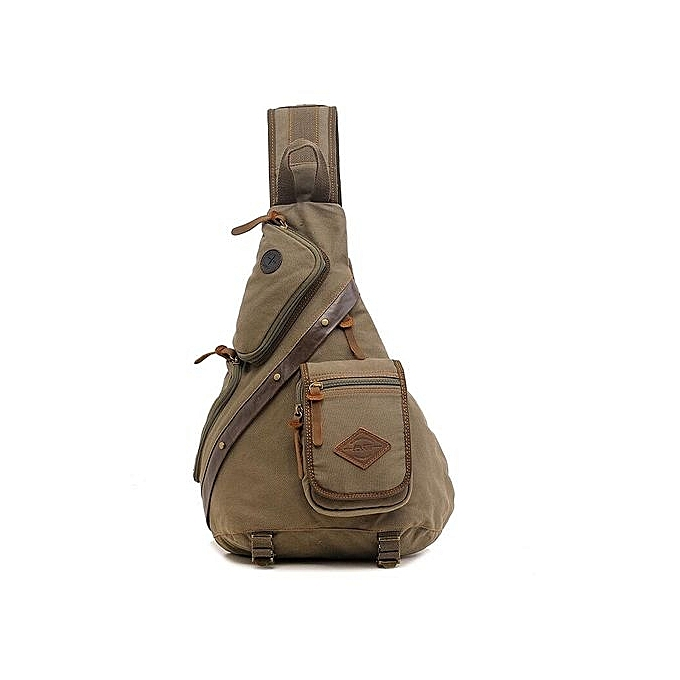 Fashion Men Chest Back Pack Bag Satchel Single Shoulder Bag Canvas Rucksack à prix pas cher
