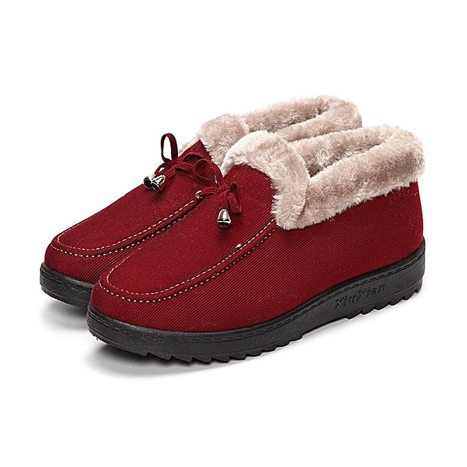 Fashion Bowknot Slip On Faux Fur Lining Soft Sole Round Toe Warm Short bottes à prix pas cher    Jumia Maroc
