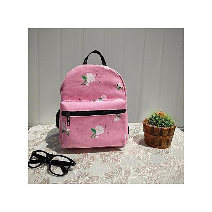 mode Singedanfemmes sac à dos toile School sac Rose School sac à doss Shoulder sacs PK -rose à prix pas cher