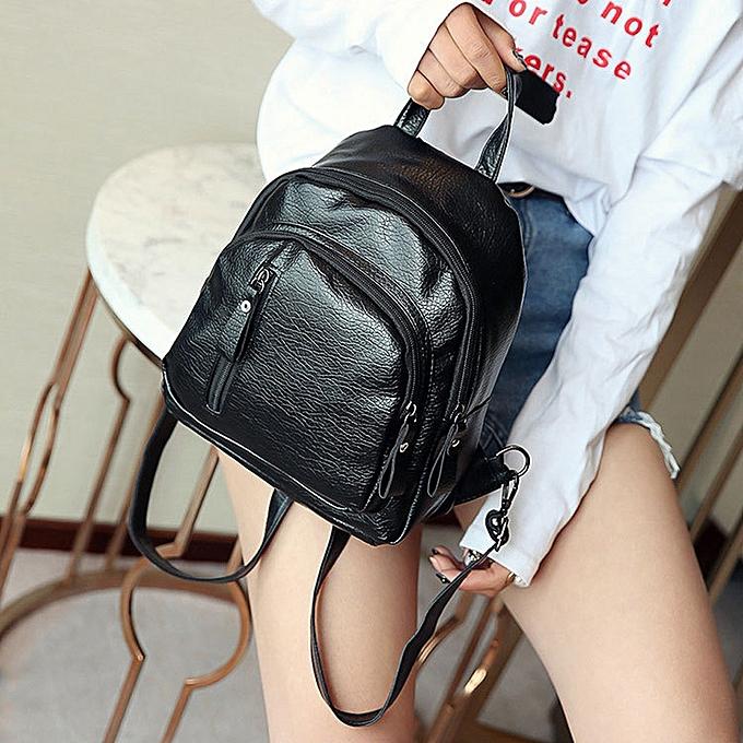 mode whiskyky store femmes Girl Multifunction Shoulder Booksacs School sac Cute mode sac à dos  -noir à prix pas cher