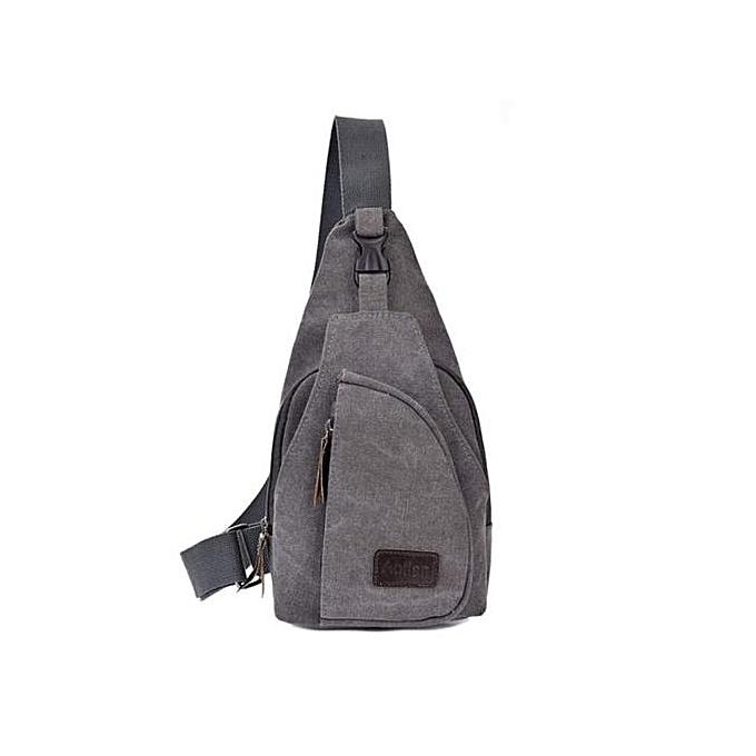 Fashion Xiuxingzi_Casual Canvas Unbalance Backpack Crossbody Shoulder Bag Chest Bag à prix pas cher