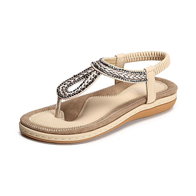 Fashion SOCOFY US Taille 5-13 Summer femmes Soft Outdoor Flat Sandals à prix pas cher