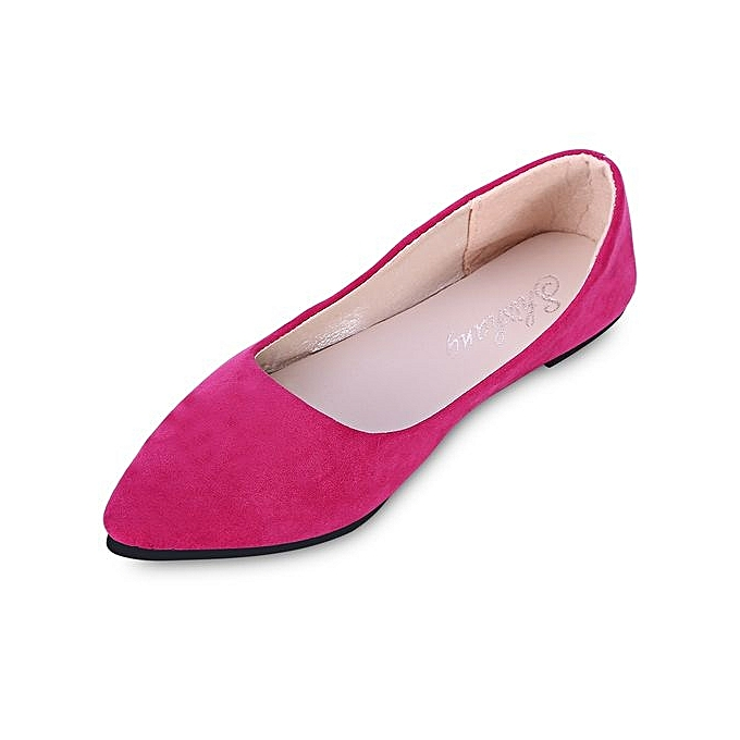 Fashion Fashion Fashion Fashionable Pointed Toe Suede Slip-on WoHommes  Flat Shoes_TUTTI FRUTTI à prix pas cher  | Jumia Maroc f47561
