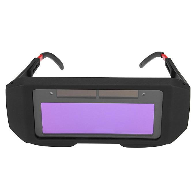 UNIVERSAL 2PCS Solar Power Auto Darkening Welding Mask Helmet Eyes Shield Goggle Welder Glasses noir à prix pas cher