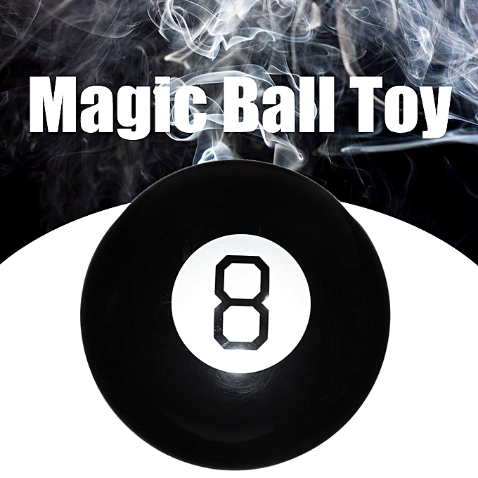 UNIVERSAL Magic Eight Ball Charm Decision Fortune Teller Toy Answer Game Novelty 10cm à prix pas cher