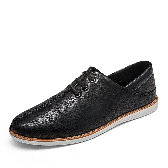 Other Men's Elastic Tie Walking chaussures Comfort Leather Loafers à prix pas cher