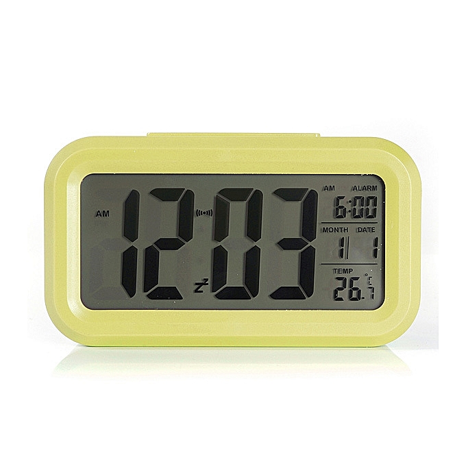 Other vert Digital LCD Alarm Clock Time Calendar Thermometer Snooze Backlight FCJMALL à prix pas cher