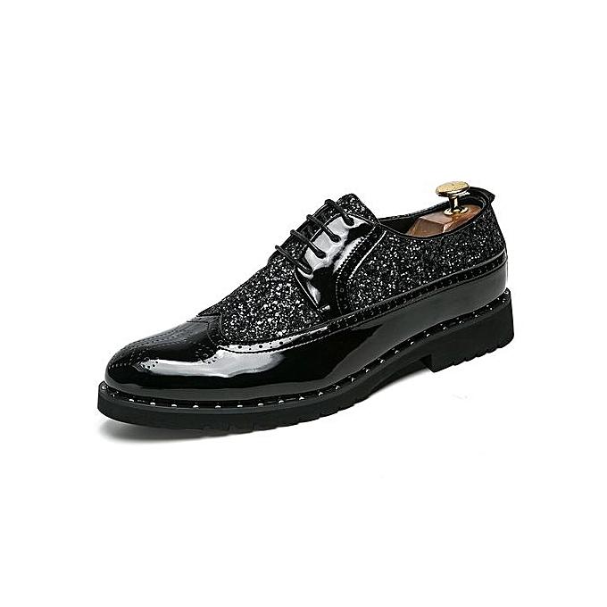 Fashion Oxfords Formal chaussures Carving Flower Men chaussures (noir) à prix pas cher    Jumia Maroc