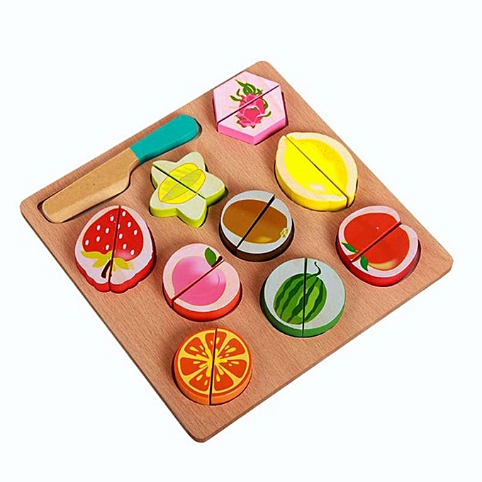OEM Hot saleKids Wooden Pretend Role Play Kitchen Fruit Vegetable Food Toy Cutting Set Gift à prix pas cher