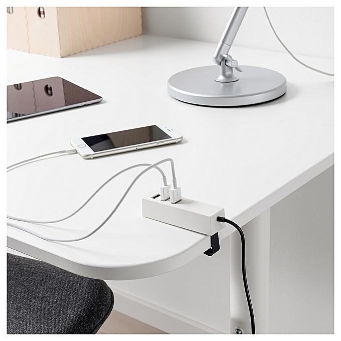 Ikea USB chargeur avec pince blanc à prix pas cher