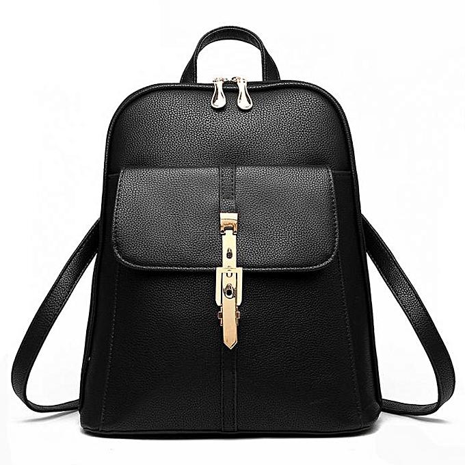 mode Singedan Shop femmes cuir sac à doss Schoolsacs voyage Shoulder sac BK à prix pas cher