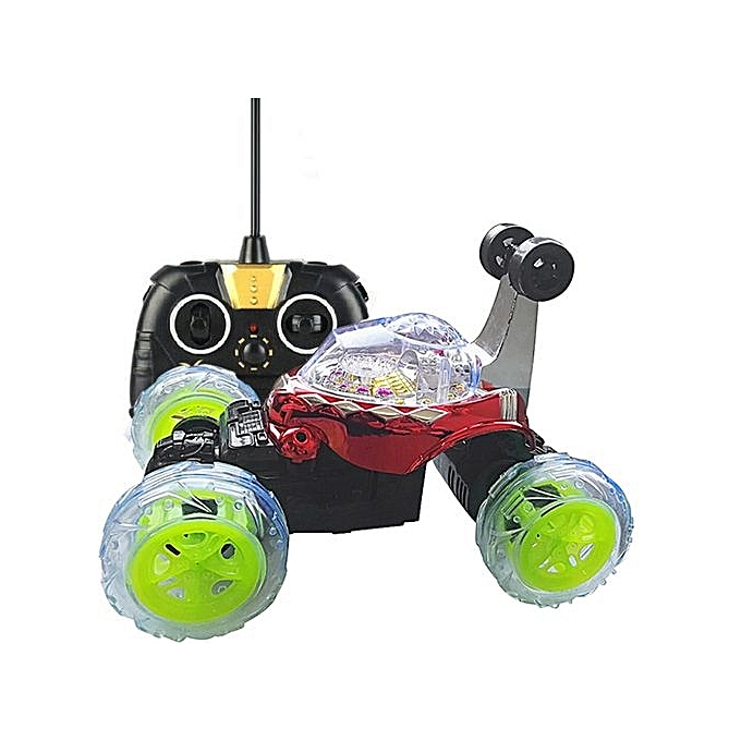 UNIVERSAL Henoesty 360 Spin mode Stunt voiture Music Remote Control LED lumières Rechargeable à prix pas cher