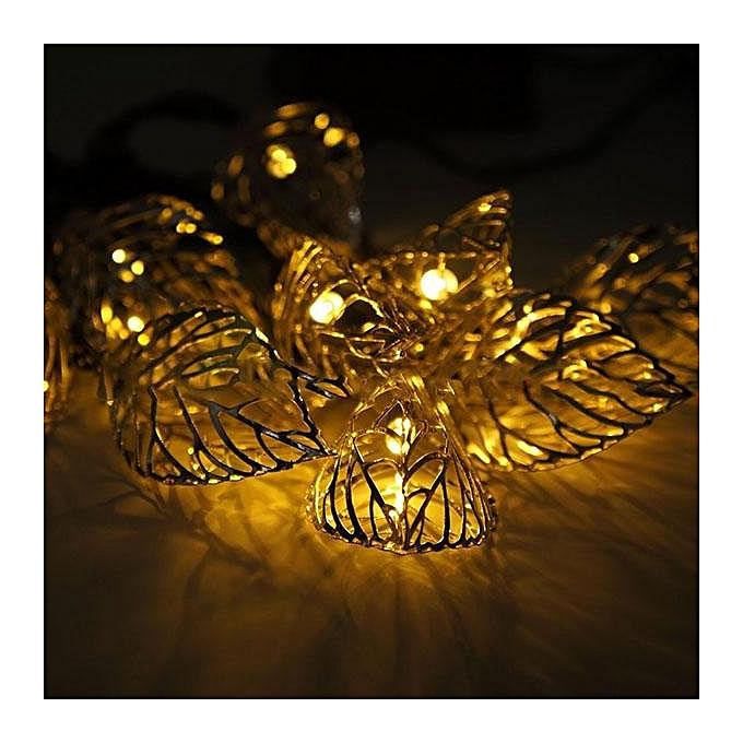 UNIVERSAL Solar light string 20LED decorative lantern outdoor waterproof Christmas garden flashing lights Warm blanc à prix pas cher