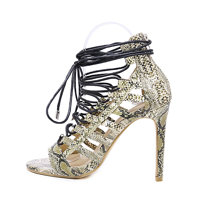Fashion Rohomme sandals with high heel sandals Khaki à prix pas cher    Jumia Maroc