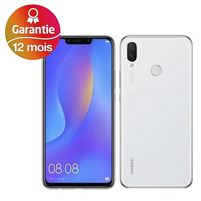 Huawei Nova 3i - هاتف ذكي 6.3 بوصة - 128 جيجا - أبيض