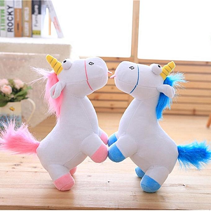 """UNIVERSAL 11"""" rose Unicorn Pet Soft Plush grand Doll Movie Cute Toy Stuffed PilFaible Enfants à prix pas cher"""