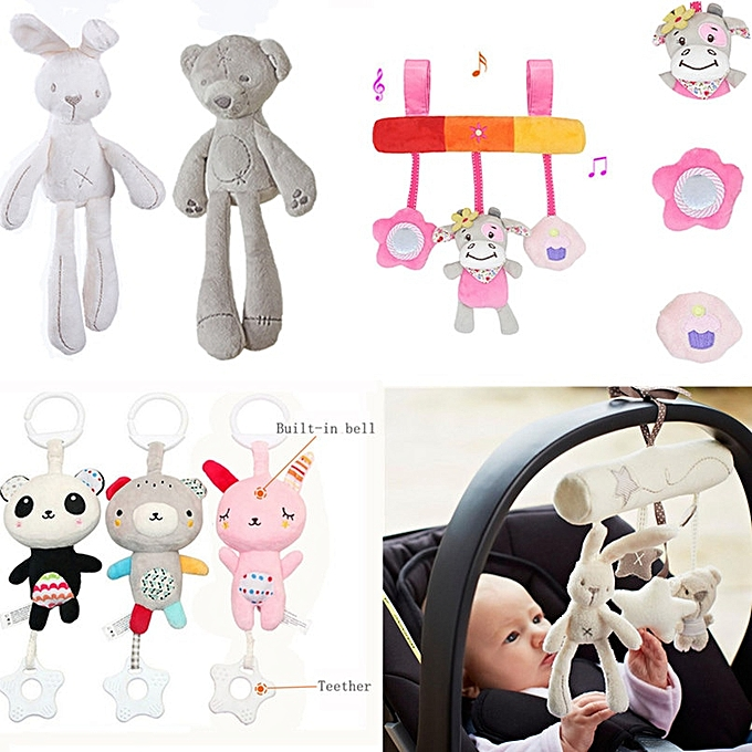 Autre Cute   Toys Infant Animal Crib voiture Bed Rattles Toys   Seat Accessories Animal   Mobile Stroller Toys Plush Playing Doll(lumière gris) à prix pas cher