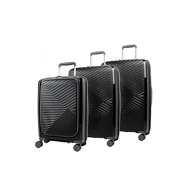 JIZO Set 3 valises TRANSCEND Noir à prix pas cher