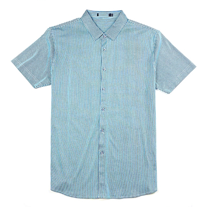 Fashion Mens Striped Printing Fashion Casual Summer Fit Short Sleeve Shirts à prix pas cher