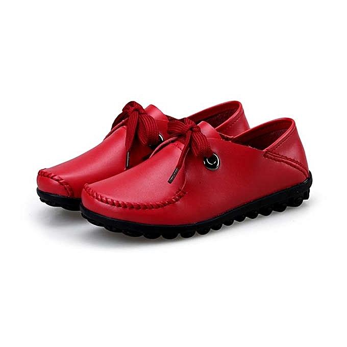 Fashion femmes chaussures Leather Casual Comfortable Outdoor Flats Slip Resistant à prix pas cher    Jumia Maroc