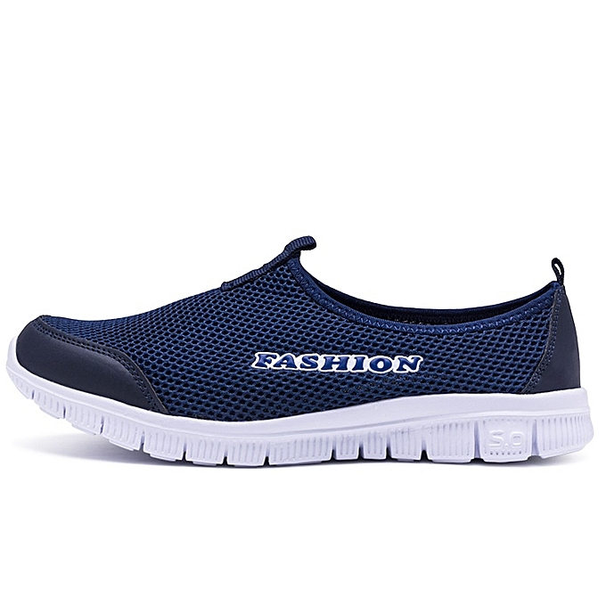 Other Stylish Men's Casual Breathable Loafers Mesh Sports chaussures -Dark  bleu à prix pas cher