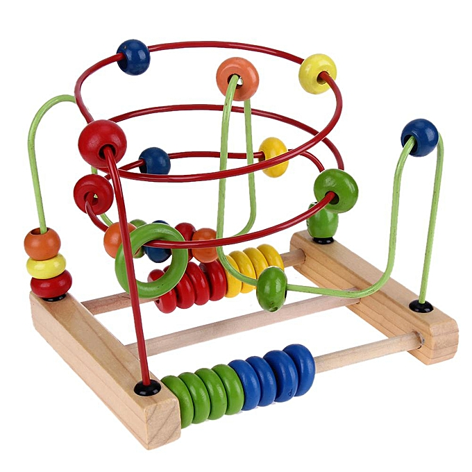Autre Alink Comptage Cercle Perle Abacus Fil Roller Coaster En Bois Bébé Jouet Éducatif à prix pas cher