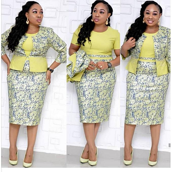 Fashion Haute qualité perlée grande Taille robes dames robes de bureau d'affaires - vert à prix pas cher