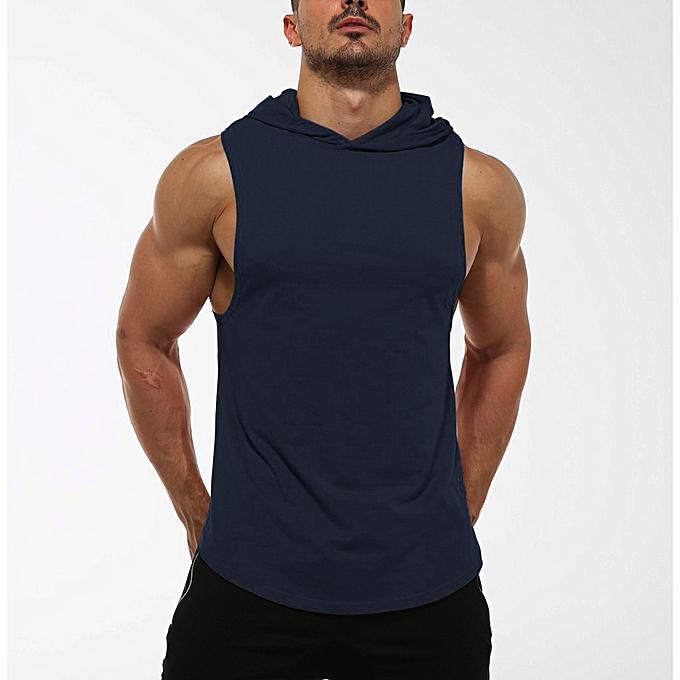 mode whiskyky store mode Hommes été encapuchonné Sport Sleeveless Shirt Tee Top chemisier Vest Tank à prix pas cher