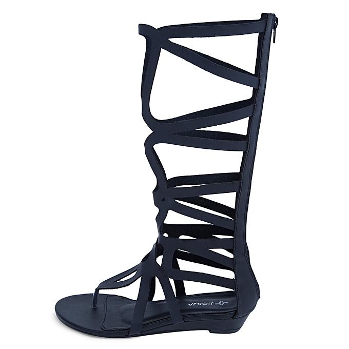Fashion Fashion Fashion Sexy Hollow Out Pure Color Zipper Design Knee High WoHommes  Flip-flop Gladiator Sandals à prix pas cher  | Jumia Maroc 2ee2b0