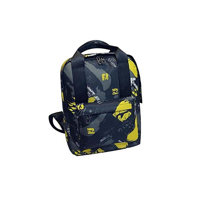 Fashion jiahsyc store  Unisex Travel Rucksack School Bag Satchel Canvas Backpack BK-noir à prix pas cher