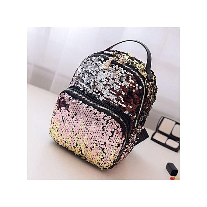 mode femmes School Style Sequins voyage Satchel School sac sac à dos sac à prix pas cher