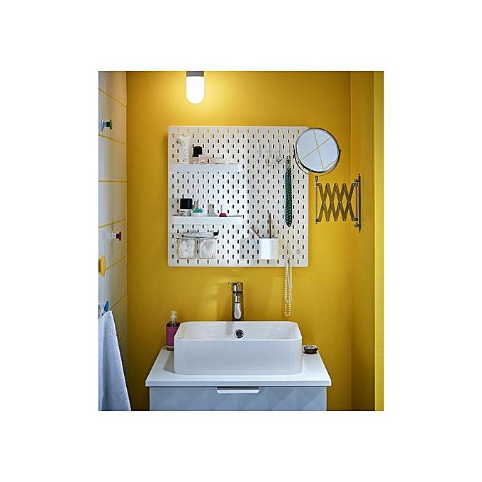 Ikea Panneau perforé blanc 56 x 56 cm à prix pas cher