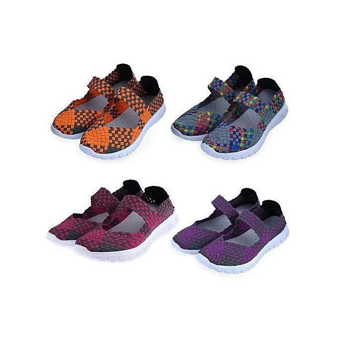 Fashion Stylish Weave Color Block     Breathable Flat Shoes à prix pas cher  | Jumia Maroc d37777