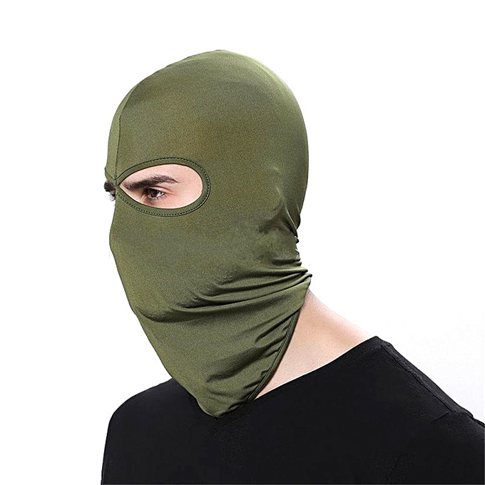 Autre Outdoor Sports Motorcycle Face Mask Winter Warm Windproof Breathable Ski Snowboard Wind Cap Police Cycling Balaclavas Face Mask( Army vert) à prix pas cher