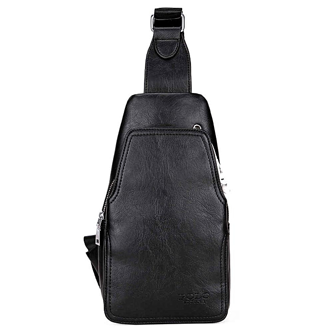 Other VICUNA POLO Fashion High Quality PU Leather Men Messenger Bag Practical Crossbody Shoulder Bag For Male Casual Chest Sling Bags(noir) à prix pas cher
