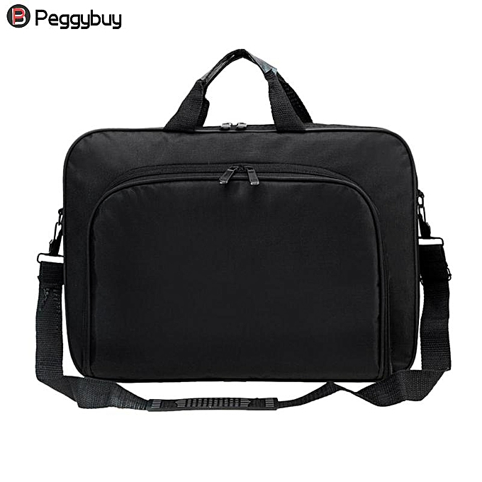 Other Affaires portable Uni Nylon Computer Handsacs Zipper Shoulder Laptop Simple sacs Briefcase noir( ) à prix pas cher
