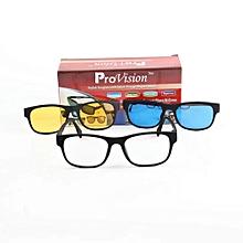 8e4a0fd3d جديد 3 في 1 نظارات مريحة - نظارات الشمس + نظارات ليلية + الإطار الحافة -