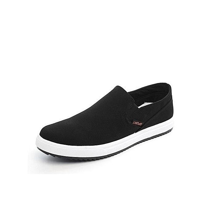 Générique Spring Summer Classic   Canvas Shoes Breathable Breathable Breathable White Casual Vulcanized Shoes   Slip-On Breathable Flats For  -Noir  à prix pas cher  | Jumia Maroc bb9b8a