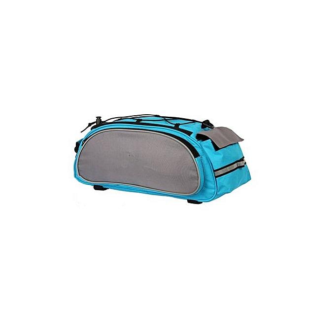 Generic Haojks Cycling Handbag Bicycle Storage Pannier Bike Saddle Rack Rear Seat Bag Shoulder à prix pas cher