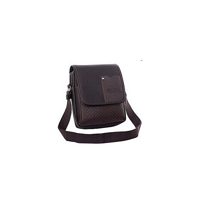 Other 2019 New Pu Leather Men Messenger Bag Briefcase shoulder crossbody handbag business bag casual hommes travel bag  KY-1(marron) à prix pas cher