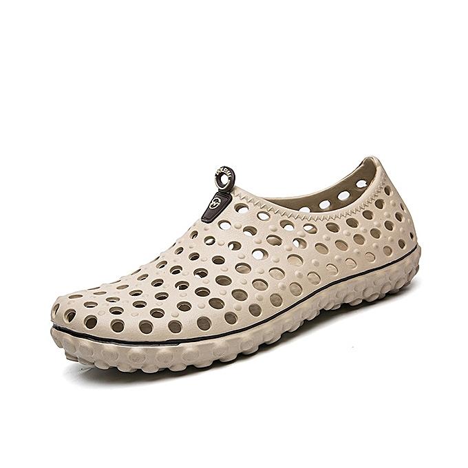 mode Hommes HolFaible Out Sandals respirant Décontracté de plein air Flats à prix pas cher