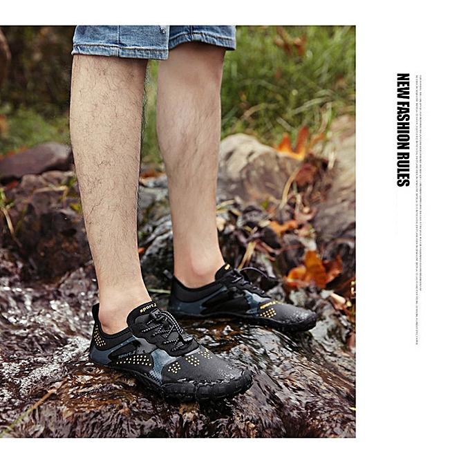 Other nouveau mode de plein air Hiking Couple Five-fingerouge Swimming Mountaineebague Sports plage Waterfront chaussures-noir à prix pas cher