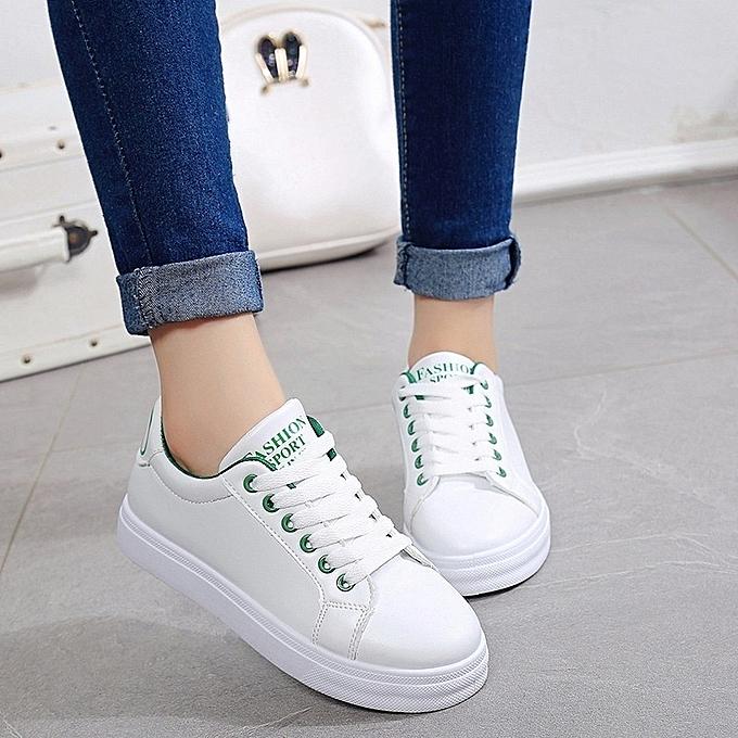 Autre Lacing Stylish Korean Leisure Breathable Lacing Autre White Shoes à prix pas cher  | Jumia Maroc 8d3c97