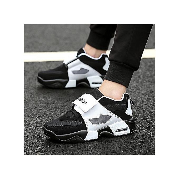 OEM Men's chaussures casual platform sports running lazy breathable hommes chaussures-noir à prix pas cher