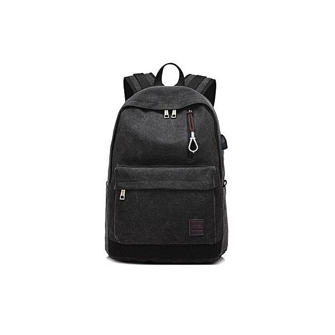 Duoya Student Boy Laptop Backpack School Bag School Backpack Men femme Travel Bag BK-noir à prix pas cher